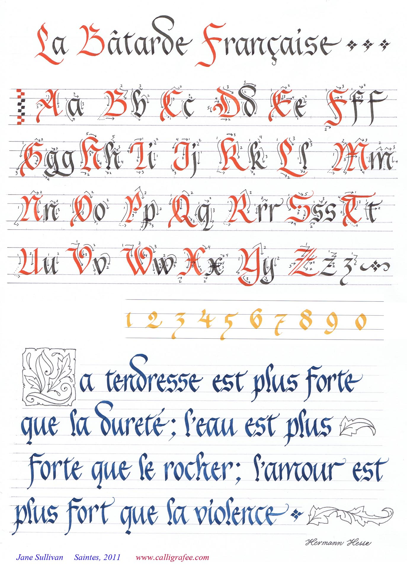 Bien-aimé Calligraphie et Enluminure - CalligraFée - Jane Sullivan NR79