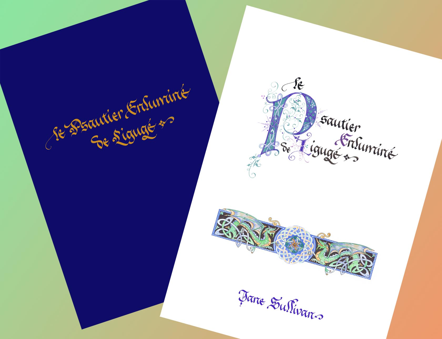 Psaume calligraphie enluminure